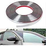 Chromen band rol 15meter/chroom lijst SELFKLEVEND - chroom-look voor auto, motorfiets, auto, woning, huishouden, decoratie de