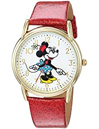Disney Women's 'Minnie Mouse' Quartz Metal Casual Watch, Color:Red (Model: WDS000412)