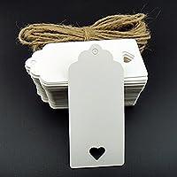 Pixnor Kraft carta Tag regalo Tag bagagli Tag, etichette di carta, 100pezzi