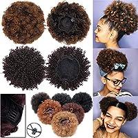 Extensiones de pelo de pelo sintético de pelo rizado, para cabello natural