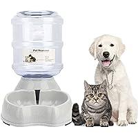 Haustier Automatischer Wasserspender, Automatischer Trinkbrunnen, Haustier Trinkflasche Tierzubehör für Hunde Katzen,3.8 Liter,PBA frei von Old Tjikko