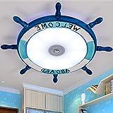 Lfnrr Hochwertige Moderne Schlafzimmer Leuchten Mediterrane'S Cartoon Kindergarten Kinderzimmer Jungen Kinder Lampe Led Deckenleuchte, 75 Cm - 56 W