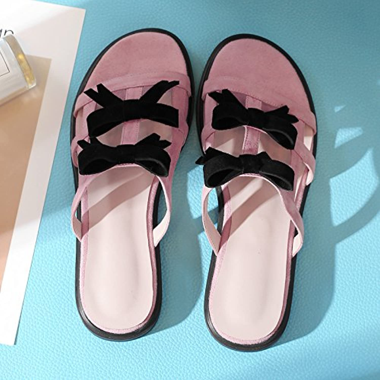 AJUNR Sandali Da Donna Alla Moda Calzature semplicità il il il filtro bow tie lady scanalato e pantofole rosa 39   Italia    Gentiluomo/Signora Scarpa  618da2