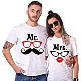India Mantra T-Shirts for Couple   T-Shirts for Men and Women   Colorful T-Shirts   Dryfit Strechable T-Shirts  Mrs Mr   Colo