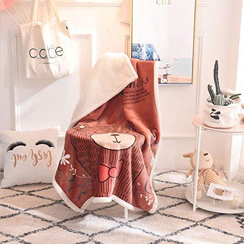 AMY Werfen Sie eine Decke, komfortable Nicht reizende weiche Decke pelzigen Cartoon Bär dünne Decke für Kinderzimmer Schule Sofa Sommer - (39