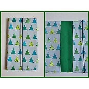 Windeltasche Wickeltasche Wimpelkette türkis grün Junge (Geburtsgeschenk Mamageschenk)