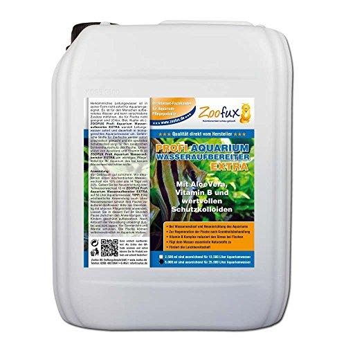ZOOFUX Profi Aquarium Wasseraufbereiter EXTRA 5.000 ml (Für Ihr Aquarium mit AloeVera, Vitamin B und wertvollen Schutzkolloiden)