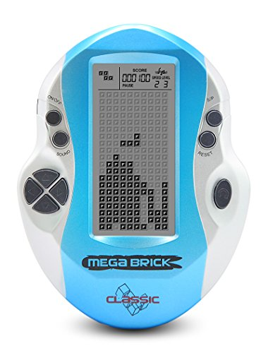 New Kids Konsole Big Bildschirm Handheld Tetris Konsole Retro Mega Tetris Spiel Konsole integrierte 23 Spiele Classic Geistiges Spielzeug (Tetris-spiel Handheld)