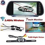 Auto Wayfeng WF 7'TFT LCD moniteur sans fil système caméra de recul Auto rétroviseur +RearView System arrière sans fil télécommande