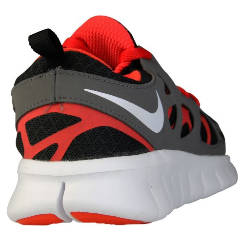 Nike Free Run 2 (GS) Scarpe da Corsa, Unisex Bambino Black White Dark Grey Lite Crimson
