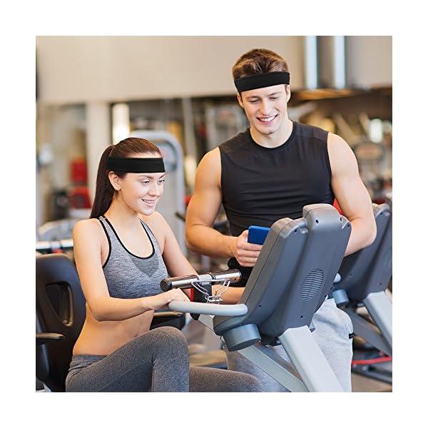 IPOW 2 pz Headband Fasce da Corsa Fascia Capelli Uomo Fascia antisudore Testa Antisscivolo e e Antisudore Traspirante… 2 spesavip