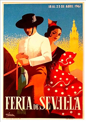 feria-de-sevilla-1961-wonderful-a4-glossy-art-print-taken-from-a-rare-vintage-travel-poster