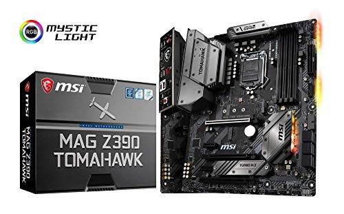 MSI MAG Z390 TOMAHAWK - Carte mère Arsenal (Larga 1151, 3 x PCI-E x16, M.2 Shield FROZR, Double LAN Intel, Boost de base, 4 x USB 3.1 Gen2, Boost DDR4, Multi-GPU)