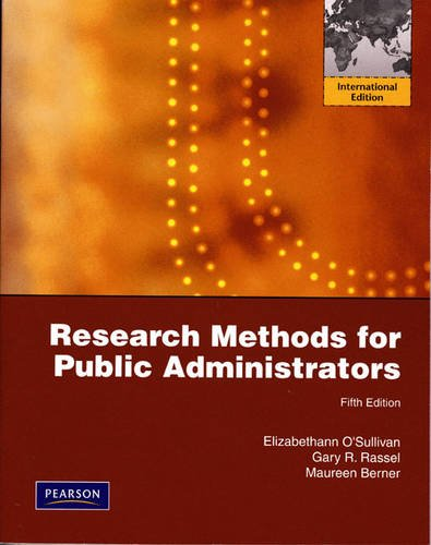 Research Methods for Public Administrators:International Edition