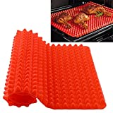 Rot Silikon Backmatte, valink hitzebeständig Pyramid Pan Fat reduziert antihaftbeschichtet Silikonform Kochen Matte Ofen Backblech