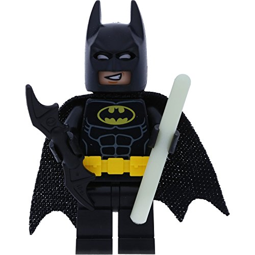 Batman Lego Minifigur Set 70910 incl. Bat-a-Rang + 1x GALAXYARMS Stab nachtleuchtend