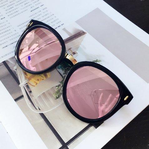 Sunyan der koreanischen Version der retro Big Box Sonnenbrille, ein rundes Gesicht Persönlichkeit Myopie Sonnenbrille weibliche koreanische Tide 2016 Gläser Mädchen neue, helle schwarzen Tuxedo pink reflektierenden - Tuxedo Pink