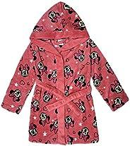 NADA HOME Accappatoio Vestaglia Bambina Disney Minnie Mouse in Pile con Cappuccio 3844