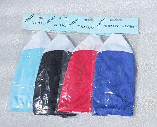 Cuffie nuoto per piscina in poliestere due colori - confezione da 50