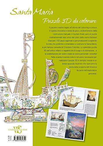 Caravella-Santa-Maria-Puzzle-3D-da-colorare