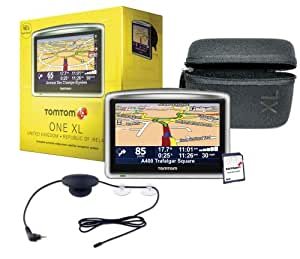 TomTom ONE XL Satellite Navigation System with Case, RDS-TMC Traffic Receiver and European Maps
