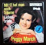 """Mit 17 hat man noch Träume / Liebesbriefe / Peggy March / Bildhülle 1965 / Deutsche Pressung / RCA VICTOR # 47-9631 / 7"""" Vinyl Single Schallplatte"""