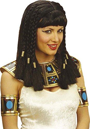 ücke schwarz-gold Einheitsgröße (Schwarze Cleopatra Perücke)