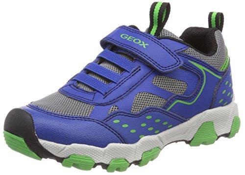 Geox Jungen J Magnetar Boy B Sneaker, Blau (Royal/Green), 38 EU