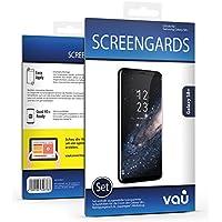 8 x Galaxy S8 Plus Schutzfolie - vau Screengards Displayschutz-Folie deckt nahezu gesamte Front ab