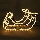 3D LED Weihnachtsbeleuchtung Lichterschlauch Weihnachtsdeko Tannenbaum Rentier (Schlitten)
