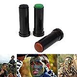Beautyrain 3 piezas Crema de pintura facial Marrón Verde Negro, Puede permanecer en el...