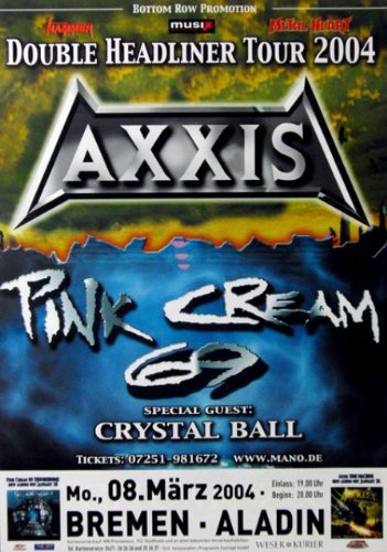 Axxis-2004-concerto Poster-Tour Poster-Concert-rosa crema 69
