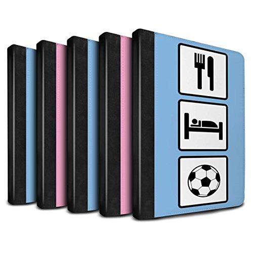 STUFF4 PU-Leder Hülle/Case/Brieftasche für Apple iPad 9.7 (2017) tablet / Pack 10pcs Muster / Essen/Schlaf Kollektion