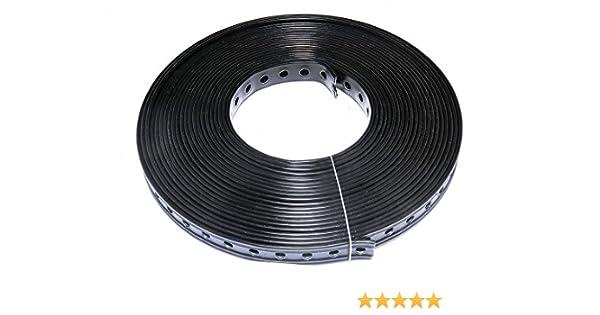Montagelochband Lochband 19mm x 10m kunststoffummantelt schwarz