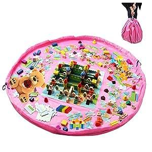 2 en 1 sacs jouets pour enfants b b 150cm sac de rangement tapis de jeu pliable organisateur. Black Bedroom Furniture Sets. Home Design Ideas