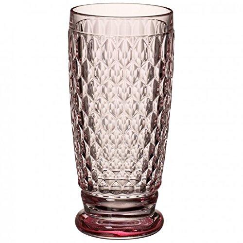 Villeroy & Boch Boston Coloured Longdrinkglas Rose, 400 ml, Kristallglas, Rosa
