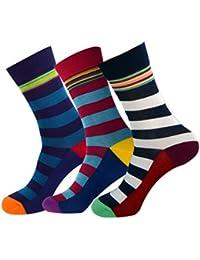 Jasmine Silk 3 Pairs Supersoft Mens Bamboo Socks Thermal Sock 7-11 Stripe