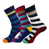 Jasmine Silk 3 Pairs Supersoft Mens Bamboo Socks Thermal Sock 7-11 Stripe (Rugby Strip)