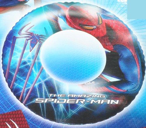Spider-Man Spider Man Badering Schwimmring Schwimm Ring Schwimmreifen Reifen Swim Ring Schwimmreifen aufgeblasen ca. 56 cm unaufgeblasen ca. 50 cm, PVC Folie ca. 0,20 mm Spiderman super Schwimmspass Kinder Spass