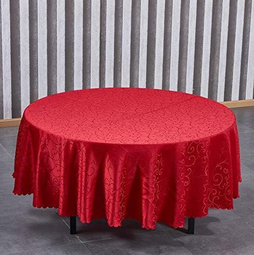 Dafa Runder Tisch Esstisch Home Wohnzimmer Stoff Tischtuch Europäisch Amerikanisches Land Wasserdicht ölbeständig Anti-Verbrühung Waschbar (Size : Round140CM(55in))