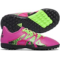 Bota de fútbol adidas jr X 16.4 Turf Shock pink-Solar green-Core black