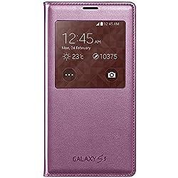 Samsung S-View Schutzhülle Case Cover mit Sichtfenster für Galaxy S5 - Pink