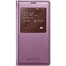 Samsung S-View - Funda para móvil Galaxy S5 (Inteligente, permite controlar funciones como la cámara, las notificaciones o las llamadas entrantes, impermeable), cloro rosa