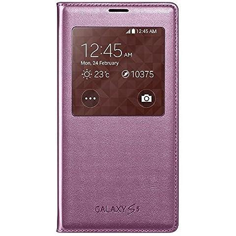 Samsung EF-CG900BPEGWW Etui en simili cuir pour Samsung Galaxy S5 Rose