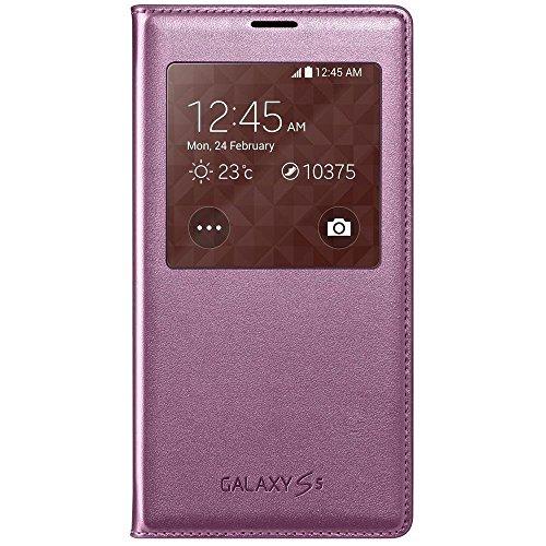 Samsung S-View - Funda para móvil Galaxy S5 (Inteligente, permite controlar funciones como la cámara, las notificaciones o las llamadas entrantes, impermeable), cloro rosa- Versión Extranjera