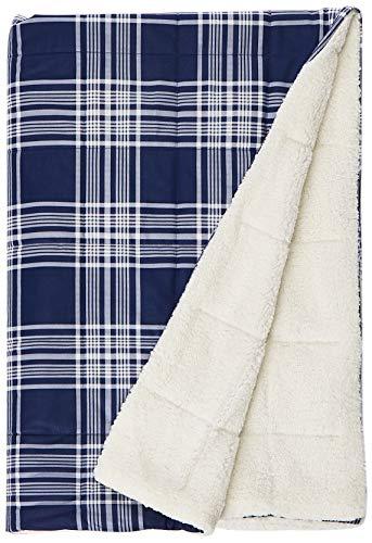 Woolrich, Inc. Leeds Softspun Down Alternative Übergroße Überwurf Decke, 127x 177,8cm Marineblau Woolrich Throw