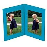 Semikolon (358279) Bilderrahmen Doppio turquoise (türkis) | Foto-Album mit 100 Seiten | Foto-Buch mit Einschubtaschen für 100 Bilder im Format 10 x 15 cm