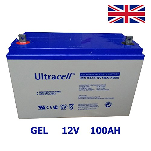 Batteria GEL 100Ah 12V ciclo profondo ULTRACELL Deep cycle Energia solare