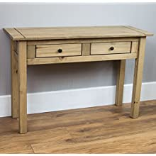 Vida Designs Panama Console Table 2 Drawer, Natural Oak
