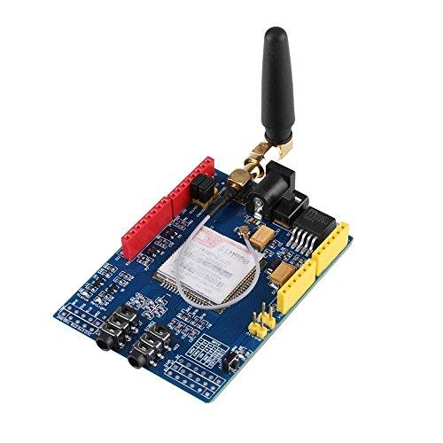 SIM900 Wireless Datenübertragungsmodul GSM GPRS Shield Development Board Erweiterungskarten Kit mit Antenne Quad Shield